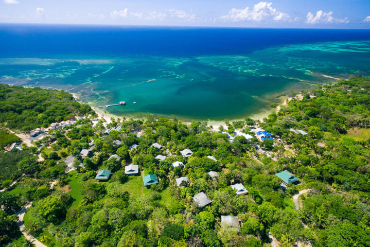 Aerial View of Palmetto Bay Resort Roatan MLS 16-245