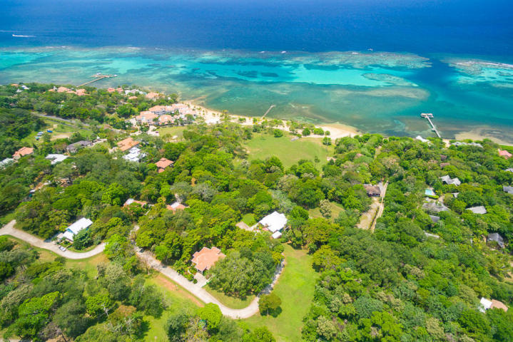 Aerial of Lawson Rock Roatan MLS 16-185