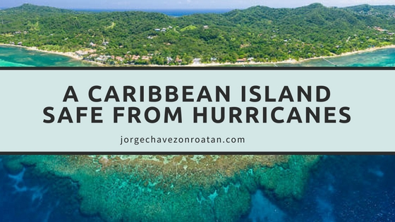 A caribbean Island safe from hurricanes Roatan Bay Islands